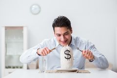 The concept of expensive dining in restaurants. Concept of expensive dining in restaurants Royalty Free Stock Photos