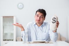 The concept of expensive dining in restaurants. Concept of expensive dining in restaurants Stock Photo