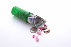 Concept of expensive medicine. Stock Photo