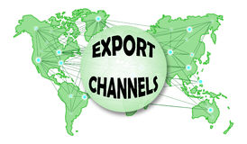 Concept of export channels Royalty Free Stock Image