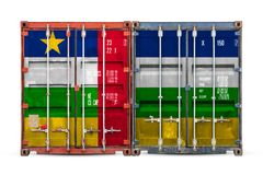 The concept of export-import and national delivery of goods. The concept of  Central African Republic  export-import and national delivery of goods. Close-up of vector illustration