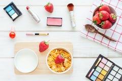 Concept féminin de petit déjeuner Photos stock