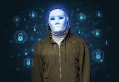 Concept facial de reconnaissance de sécurité photographie stock libre de droits