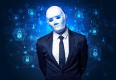 Concept facial de reconnaissance de sécurité images stock