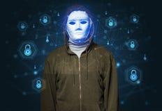 Concept facial de reconnaissance de sécurité image libre de droits