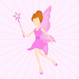 Concept of fairy tales with beautiful angel. Stock Images