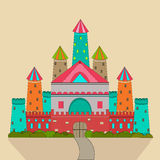 Concept of fairy tales with castle. Stock Images