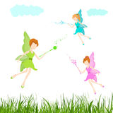 Concept of fairy tales with flying angels. Stock Photography