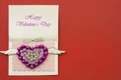 Concept fait main d'amour Carte de voeux de jour de Valentines Photos stock