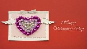 Concept fait main d'amour de carte cadeaux de jour de valentines Photos libres de droits