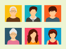 Concept of family avatars. Royalty Free Stock Images