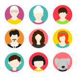 Concept of family avatars. Royalty Free Stock Photo