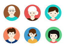 Concept of family avatars. Stock Images