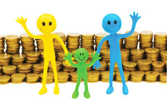 Concept of family finance Royalty Free Stock Images