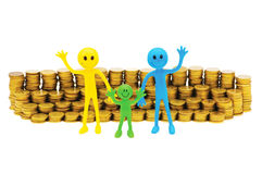 Concept of family finance isolated Stock Images