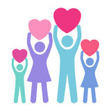Concept of Family giving love stock illustration