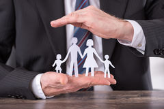 Concept of family insurance stock images