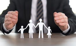 Concept of family insurance Stock Photography