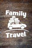 Concept of family journey by the car Stock Images
