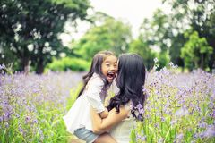 Concept of family. mother and child daughter outdoors in summer Royalty Free Stock Photos