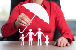 Concept of family protection coverage Stock Photography