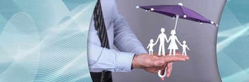 Concept of family protection stock images