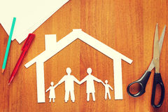 Concept of a family in their own home Stock Photo