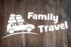 Concept of family travel by a car Stock Images