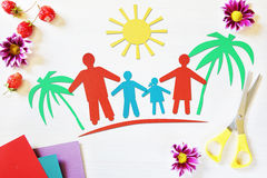 Concept of family vacation Royalty Free Stock Images
