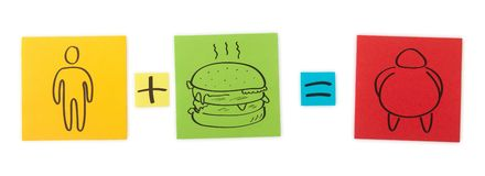 Concept of fast food.   Stock Photo