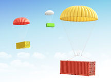 Concept of fast shipment and delivery of cargo. Stock Photos