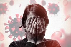 Concept of fear of coronavirus.