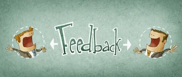 Concept of feedback Stock Photo