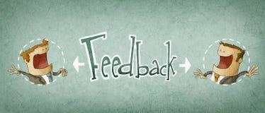 Concept of feedback. Illustration of two businessman vector illustration