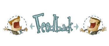 Concept of feedback Royalty Free Stock Image