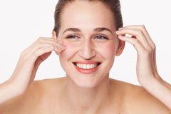 Concept of female beauty and natural freshness for glowing skin Stock Images