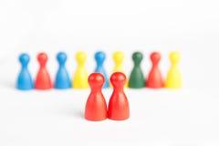 Concept (femelle) homosexuel de mariage avec des figurines de jeu Images stock