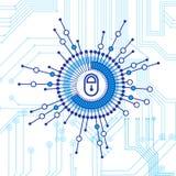 Concept fermé de technologie d'Access de serrure de la protection des données et de la sécurité Image stock