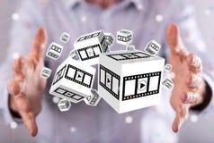 Concept films, video en bioskoop Royalty-vrije Stock Afbeelding