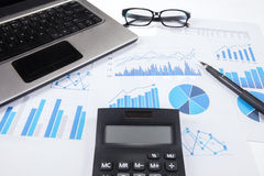 Concept of finance calculation Royalty Free Stock Photography
