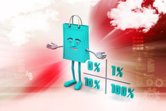 Concept finance percent. In color background Stock Photography