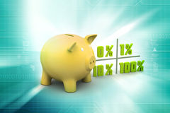 Concept finance percent. In color background Royalty Free Stock Images