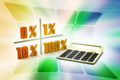 Concept finance percent. In color background Stock Image