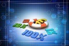 Concept finance percent Stock Photos