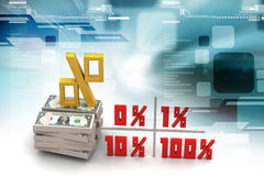 Concept finance percent Royalty Free Stock Image