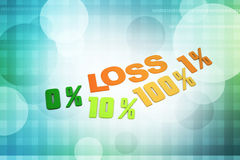 Concept finance percent. In color background Royalty Free Stock Photo