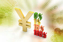 Concept finance percent with dollar sign Royalty Free Stock Photo