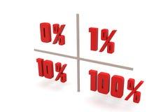 Concept finance percent Stock Image