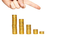 Concept of finance regression Stock Image