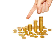 Concept of finance regression Royalty Free Stock Photography
